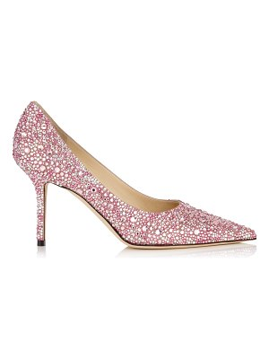 Jimmy Choo LOVE 85 Rose Mix Multi Crystal Hotfix Pointy Toe Pump
