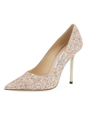 Jimmy Choo Love Glitter 100mm Pumps