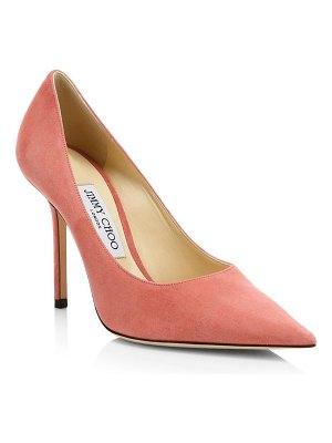 Jimmy Choo love point toe suede pumps