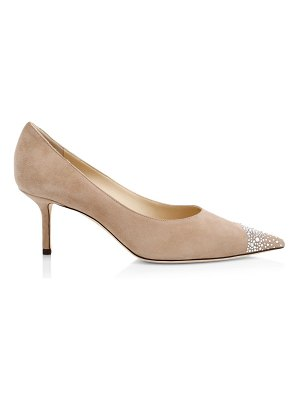 Jimmy Choo love embellished cap-toe suede pumps