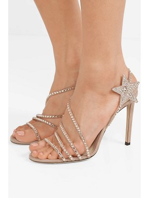 Jimmy Choo lynn 100 crystal-embellished suede sandals