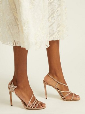 Jimmy Choo lynn 100 crystal embellished suede sandals