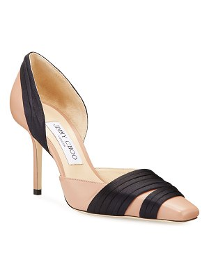 Jimmy Choo Lyrin Leather and Ribbon Pumps