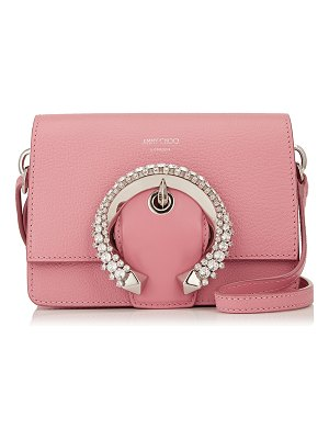 Jimmy Choo MADELINE SHOULDER BAG/S Candyfloss Calf Leather Shoulder Bag with Crystal Buckle