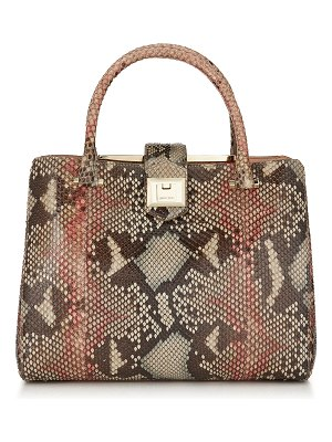 Jimmy Choo MARIANNE Rosewood Mix Painted Desert Python Tote Bag