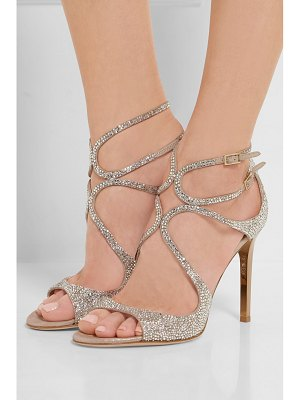 Jimmy Choo memento lang crystal-embellished metallic suede sandals