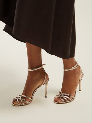 Jimmy Choo Mimi 100 Wrap Around Leather Sandals
