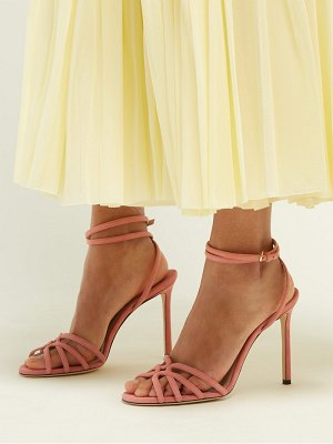 Jimmy Choo mimi 100 wrap around suede sandals