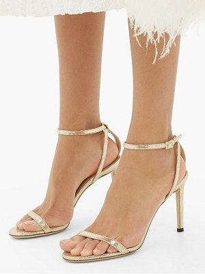 Jimmy Choo minny 85 lizard-effect metallic-leather sandals