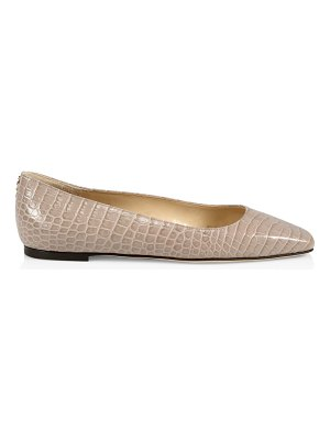 Jimmy Choo mirele croc-embossed leather ballet flats