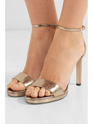 Jimmy Choo misty 85 metallic leather sandals