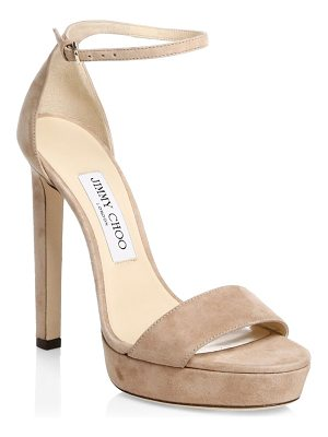 JIMMY CHOO Misty Suede Slingback Sandals