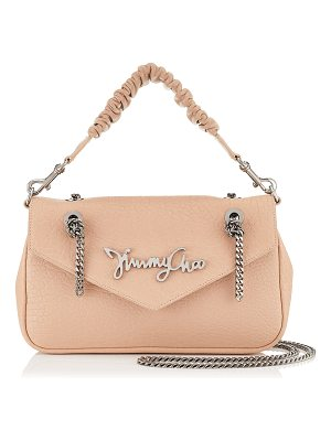 JIMMY CHOO Molly Ballet Pink Grainy Leather Shoulder Bag