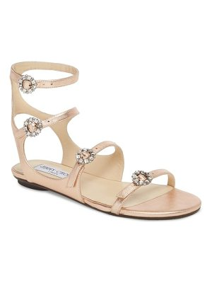 JIMMY CHOO Naia Crystal Buckle Sandal