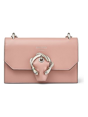 Jimmy Choo PARIS Blush Smooth Calf Leather Mini Bag with Snake Buckle