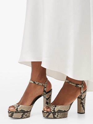 Jimmy Choo peachy 105 python-effect leather platform sandals