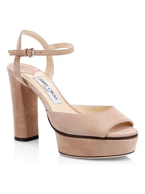Jimmy Choo peachy suede platform sandals