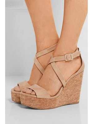 Jimmy Choo portia 120 patent-leather wedge sandals