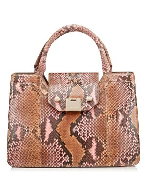 Jimmy Choo REBEL TOTE/S Nutmeg and Rosewater Dégradé Painted Python Tote Bag