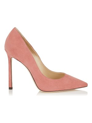 Jimmy Choo ROMY 110 Rosewood Suede Pointy Toe Pumps
