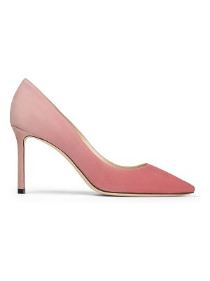 Jimmy Choo ROMY 85 Bubblegum and Blush-Pink Dégradé Suede Pointed Pumps