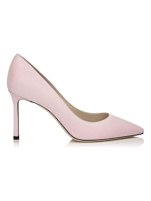 JIMMY CHOO Romy 85 Rosewater Suede Pointy Toe Pumps