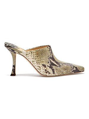 Jimmy Choo rya 90 python-effect leather mules
