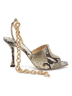 Jimmy Choo sae 90 chain-strap python-effect leather sandals