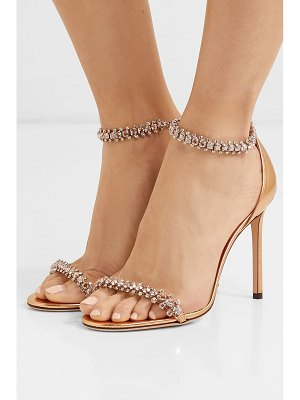 Jimmy Choo shilo 100 crystal-embellished metallic leather sandals