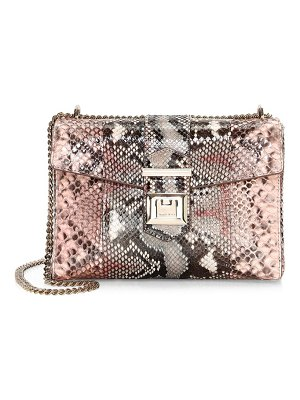 Jimmy Choo small marianne python shoulder bag