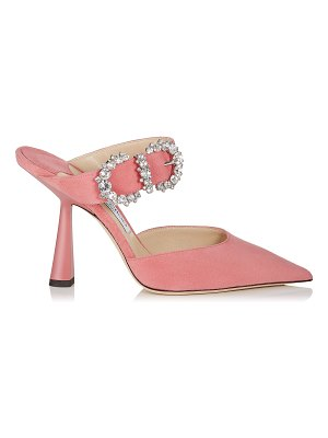 Jimmy Choo SMOKEY 100 Candyfloss Suede Pumps with Jewelled Buckle