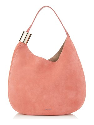 Jimmy Choo STEVIE Rosewood Suede and Elaphe Shoulder Bag