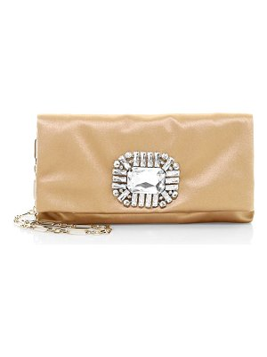 Jimmy Choo titania crystal satin clutch