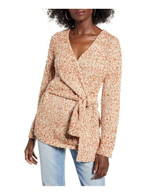 J.O.A. boucle wrap sweater