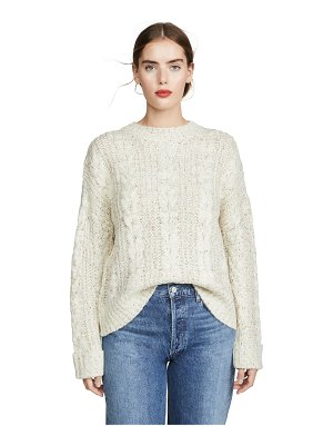 J.O.A. cable knit sweater
