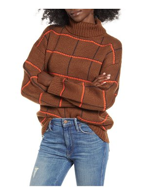 J.O.A. checked turtleneck sweater