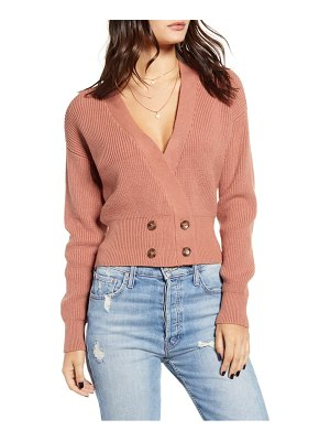 J.O.A. double breasted cardigan