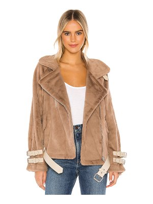 J.O.A. faux fur biker jacket