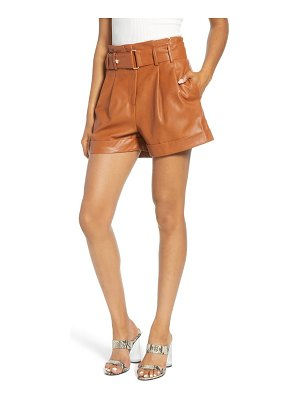J.O.A. faux leather shorts