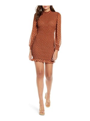 J.O.A. polka dot smocked minidress