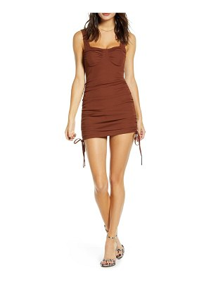 J.O.A. side ruched body-con dress