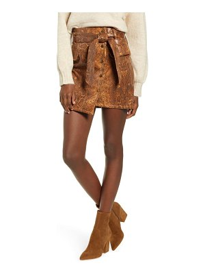 J.O.A. snake print faux leather miniskirt
