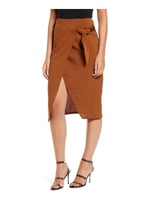 J.O.A. wrap front skirt