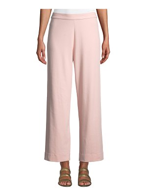Joan Vass Easy Stretch-Interlock Straight-Leg Ankle Pant