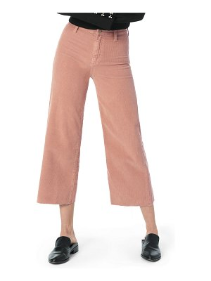 Joe's Jeans The High-Rise Cropped Corduroy Wide-Leg Jeans with Raw Hem