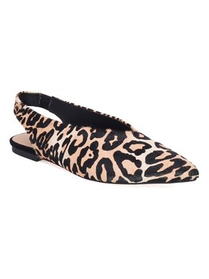 Joe's violet genuine calf hair slingback flat