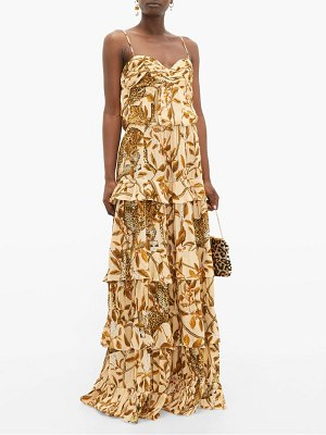 Johanna Ortiz all i've ever known jaguar-print silk gown