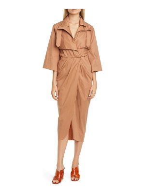 Johanna Ortiz belted midi trench dress
