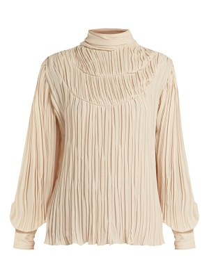 Johanna Ortiz martina cespedes pleated high neck blouse