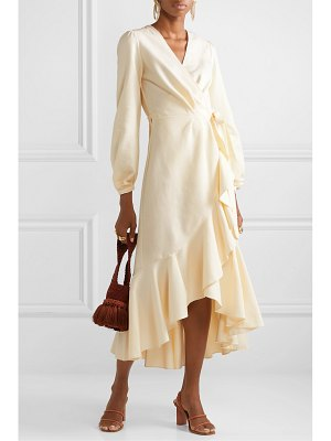 Johanna Ortiz mundo abstracto ruffled cotton-twill wrap dress
